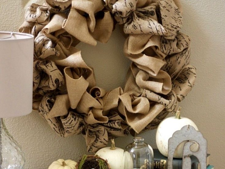 An easy step-by-step tutorial on How to Make a Burlap Wreath for beginners. This simple DIY adds such charm to your home decor. The finished wreath looks incredible inside or outside your house year-round!