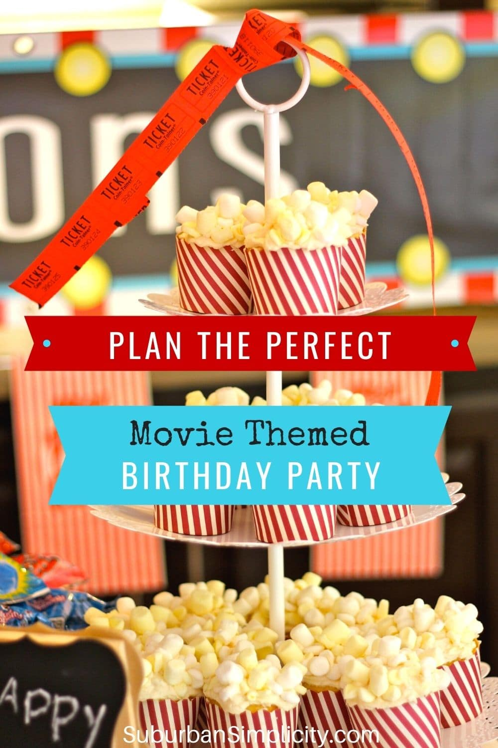 how to plan a movie-themed birthday party