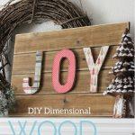 DIY Dimensional Letter Holiday Sign