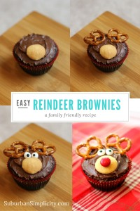 How to make reindeer brownies. Adorable addition to any holiday party!