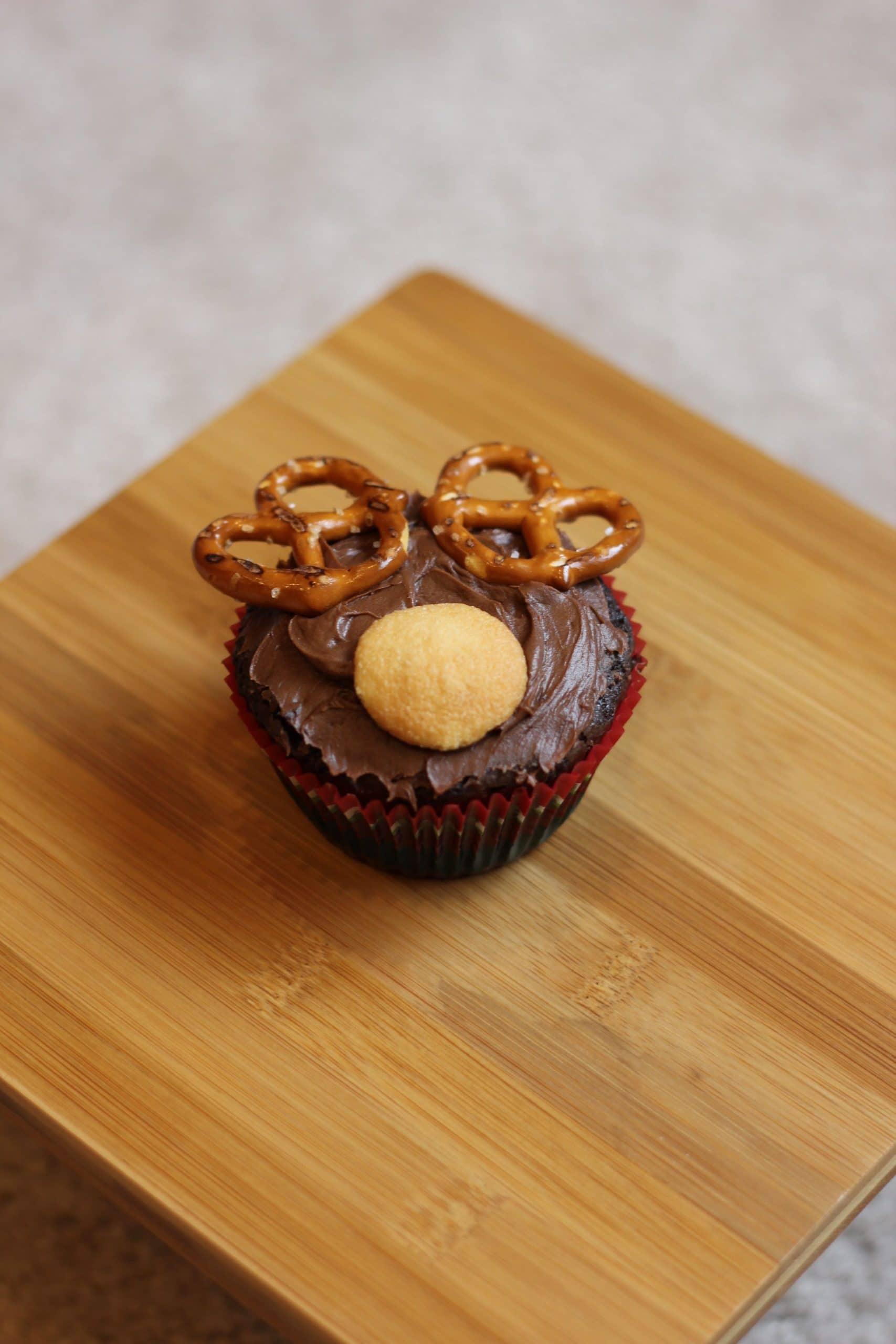 Reindeer brownie cupcake