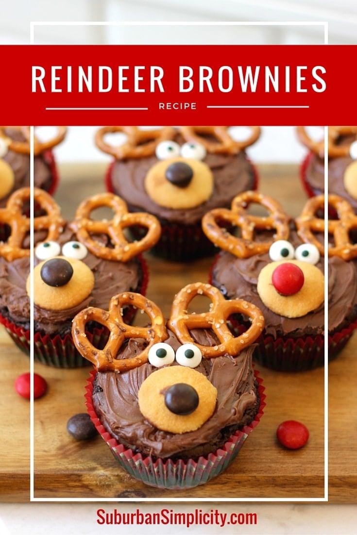 Adorable Reindeer Brownie Recipe | Christmas Treat Idea - photo#24