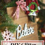 DIY Glitter Wood Sign