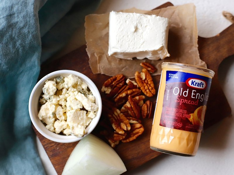 Ingredient for Blue Cheese and Pecan Cheese Ball