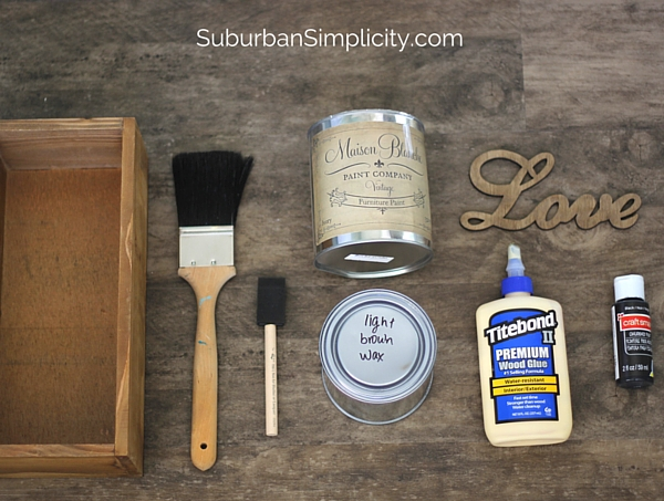 DIY Wood Box Supplies