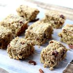 Cherry Oatmeal Bars cut into squares