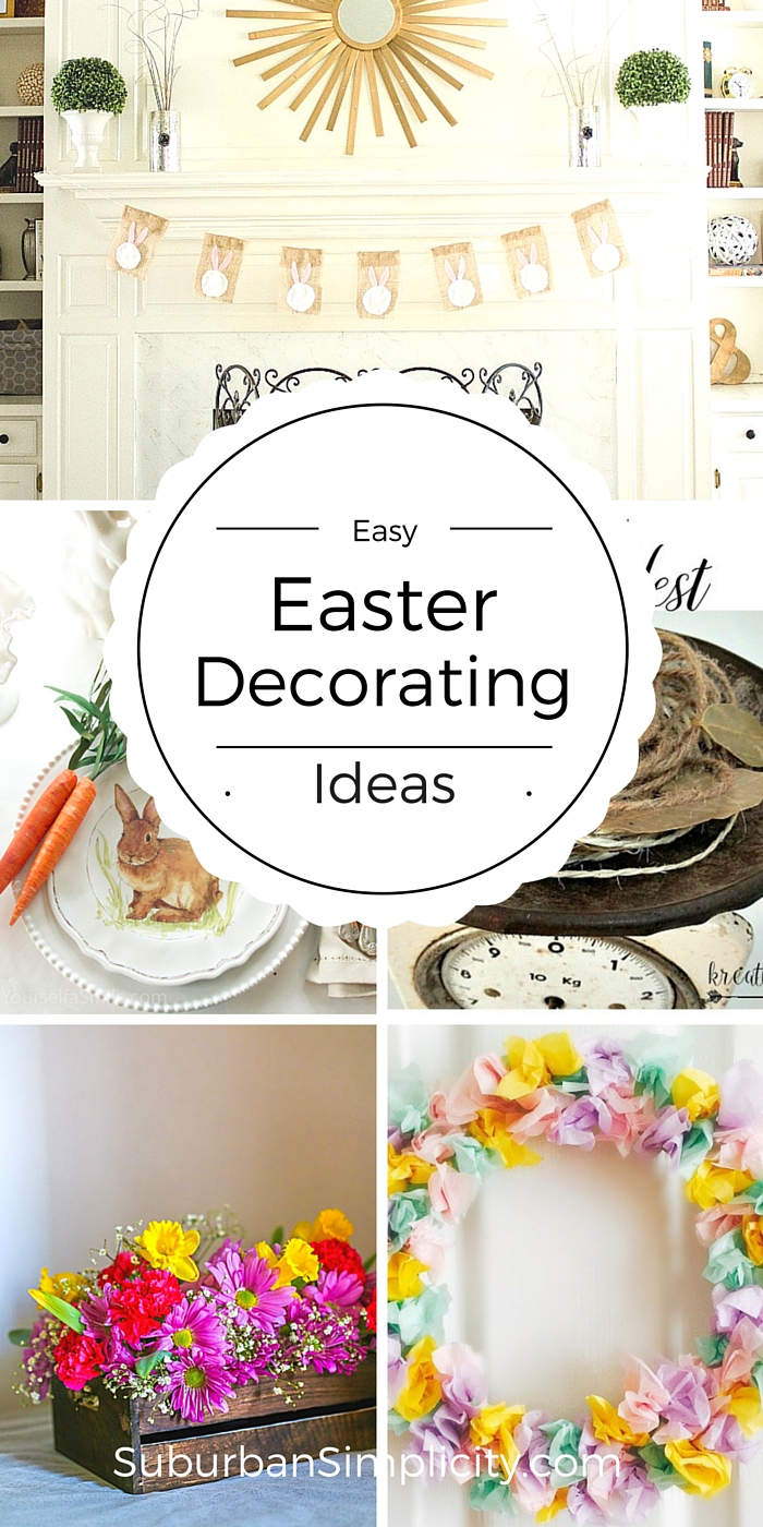 Easy Easter Decorating Ideas Diy Easter Decorating