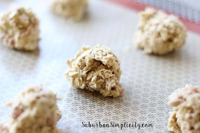 Baking Oatmeal Butterscotch Cookies