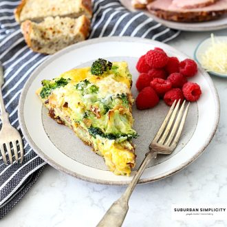 This easy and savoryHam and Cheese Frittatais a great breakfast, lunch, or dinner for kids and adults! It's low-carb, high in protein, and only takes 30 minutes to make!