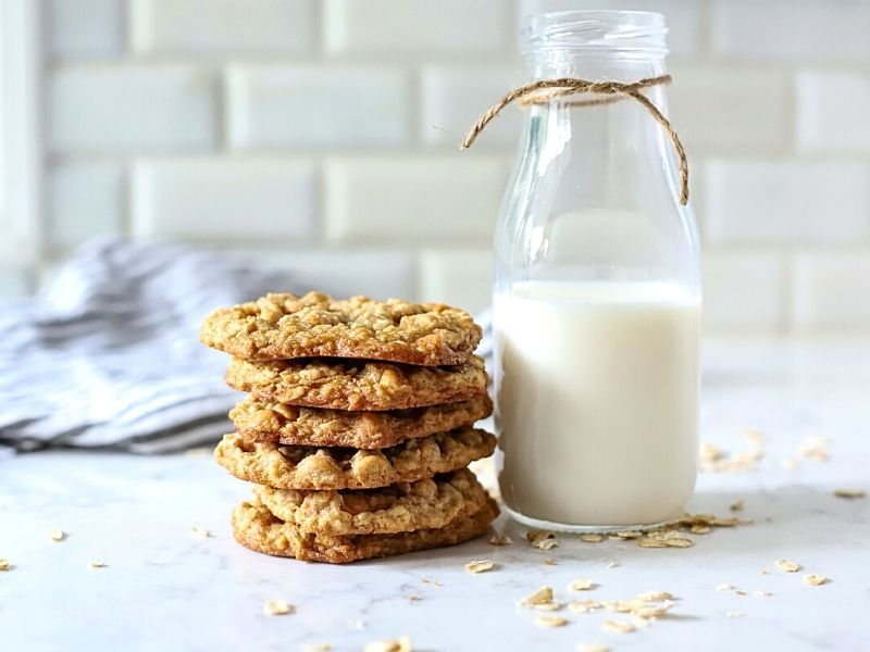 Stack of Oatmeal Butterscotch Cookies