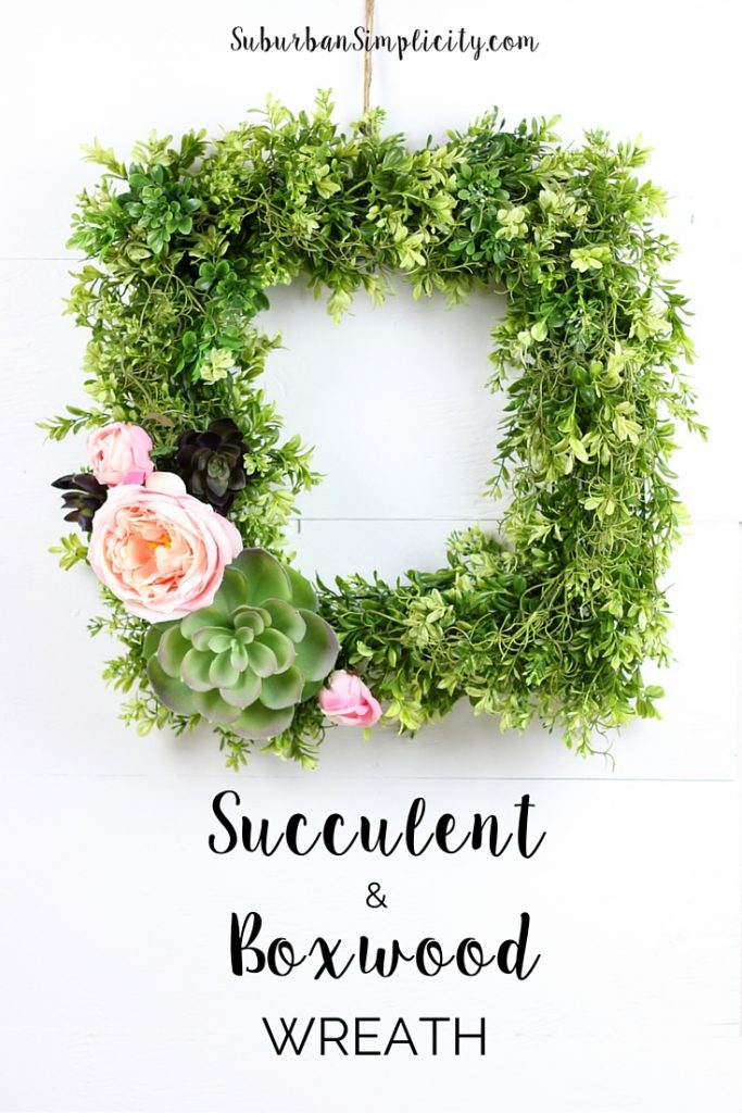 Succulent and Boxwood Wreath