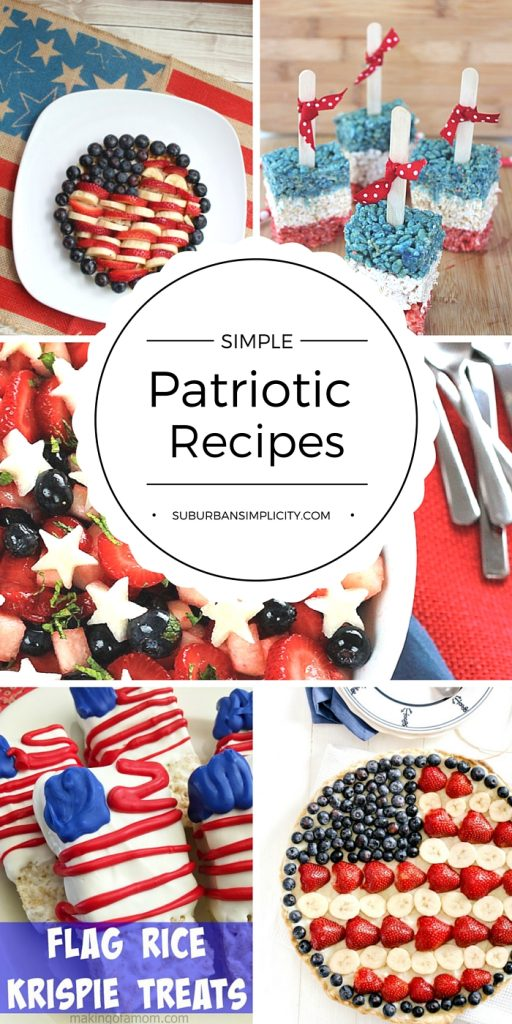 Enjoy these Simple Patriotic Recipes at your next party, BBQ or potluck. Nothing's more patriotic than red, white and blue!