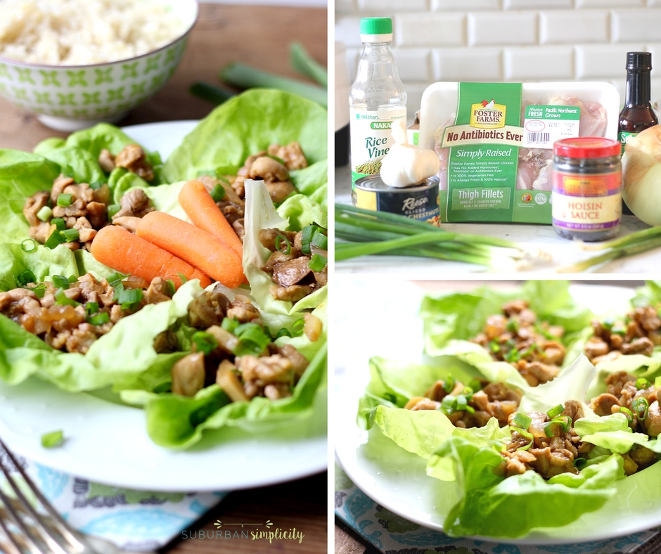 Chicken Lettuce Wraps are a healthy comfort food recipe the whole family will love! A dinner idea that can be on the table in less than 30 minutes!