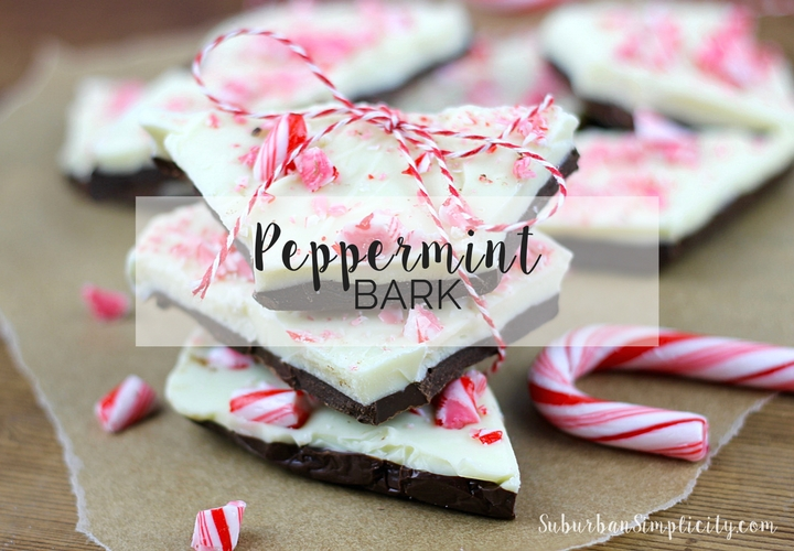 Dark Chocolate Peppermint Bark!