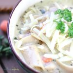 Grab a spoon and dig into this insanely good White Chicken Lasagna Soup. This satisfying one pot comfort food recipe is simple, flavorful and delicious!
