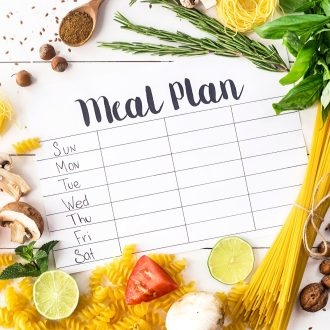 Eliminate the stress of Family Meal Planning with this helpful guide. Find out how you can meal plan for your week in 10 minutes and save time and money!