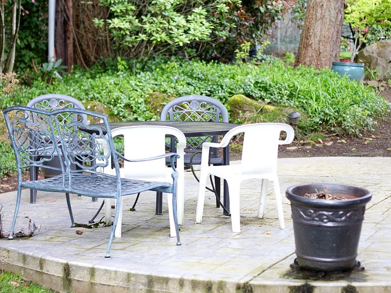 Backyard Patio Makeover before