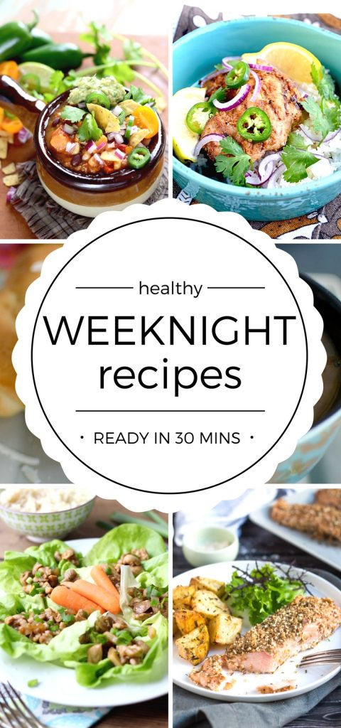 Healthy Food Recipes for easy weeknight dinners! Packed with flavor, simple to make and taste amazing! Family friendly too!