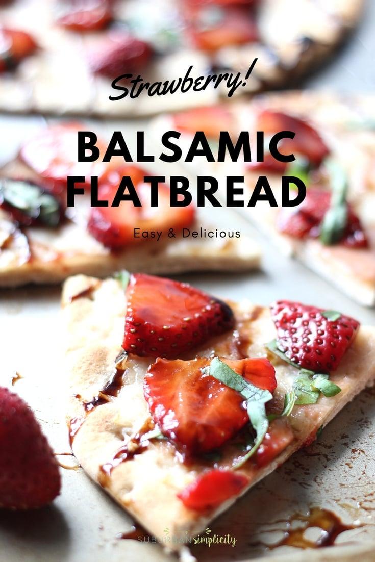 Easy Strawberry Balsamic Flatbread recipe
