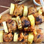 Easy Grilled Pineapple Meatball Skewers