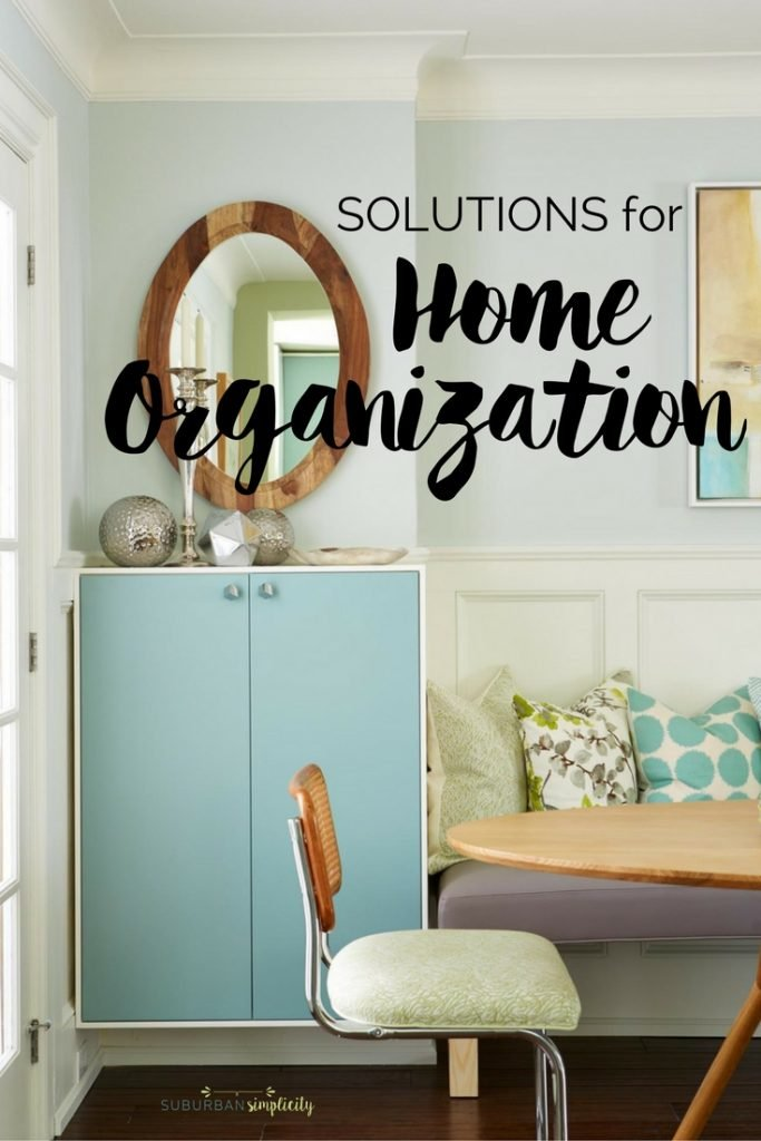 Finding Solutions for Home Organization can be a challenge. These organizing ideas will help crush your clutter and make it easy to store and find things in any space in your house.