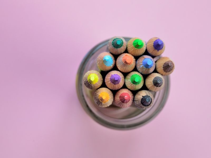 Pencils in pencil jar