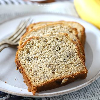 This is the bestbanana breadrecipe you'll ever make. Moist and delicious every time! And it's infused with just the right amount of banana flavor. Homemade banana bread really is the best!
