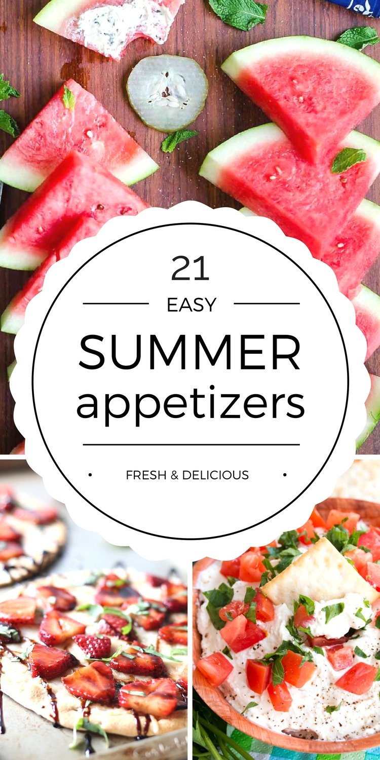 Easy Summer Appetizers Appetizer Recipes For Summer