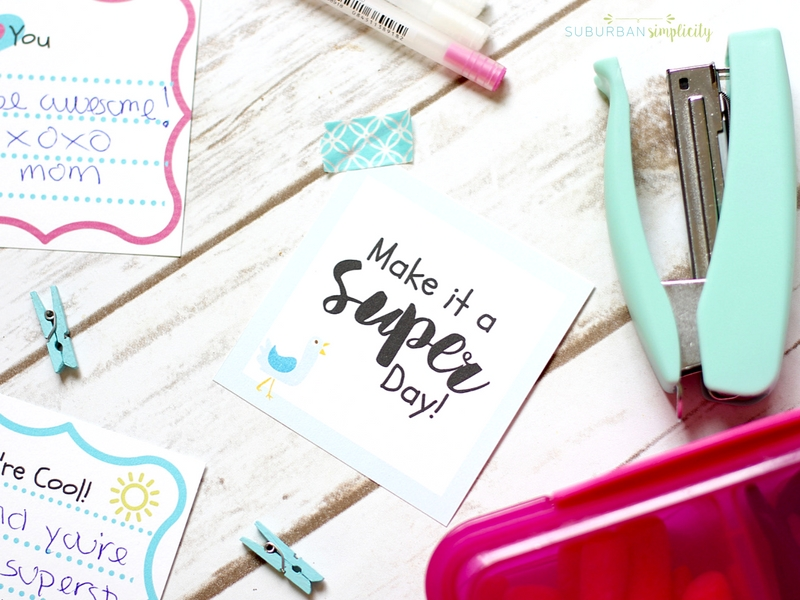 These printable lunchbox notes are sure to put a smile on your kid's face for the rest of their school day! What better way to say I love you while they're away.