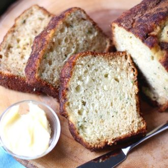 Looking for the Best Ever Zucchini Bread Recipe? You have to try this one! Moist and delicious every time. Plus it has an amazing cinnamon sugar topping your family will love! #zucchinibread #quickbread