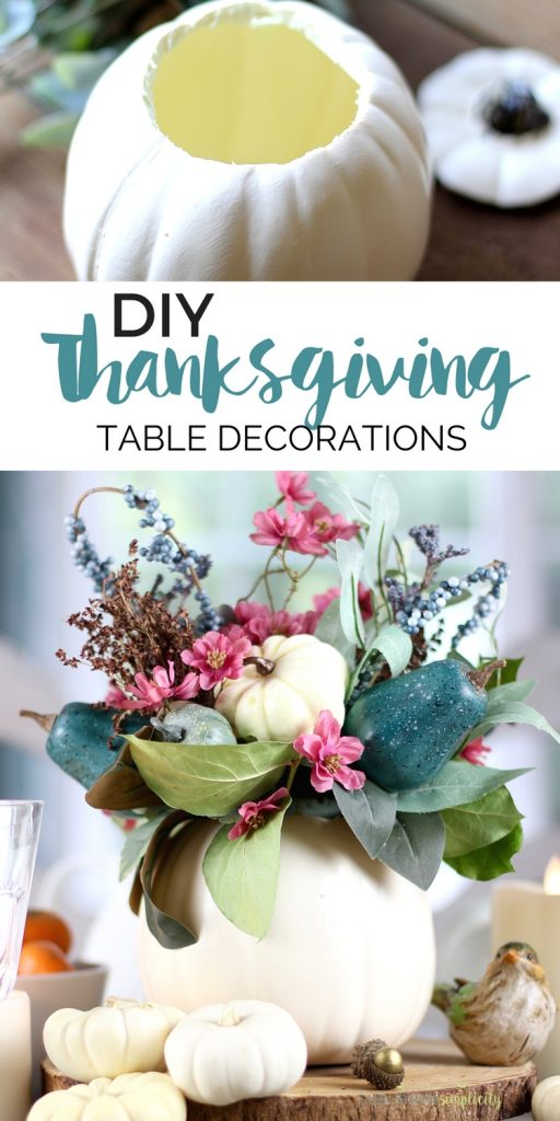 Easy Thanksgiving Table Decorations Diy Thanksgiving Table