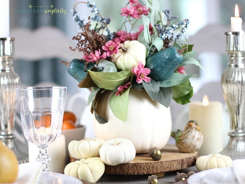 Handmade Thanksgiving table decorations