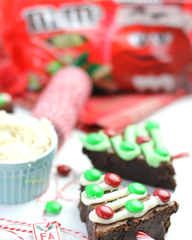 Make your holidays extra festive with these fudgy M&M'S Brownie Christmas Trees.  Delicious and easy to make, this holiday dessert is a crowd pleaser!