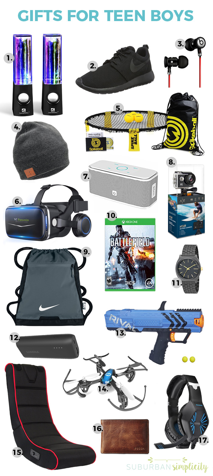 Gifts for teen boys.