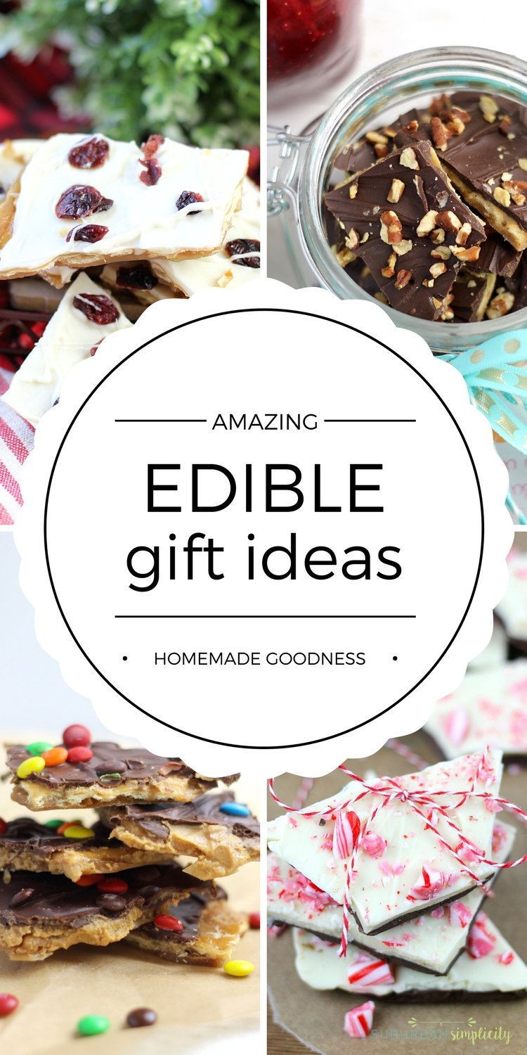 This year, use these Homemade Edible Gift Ideas to give something special and delicious to friends and loved ones.  For little money, you can make the perfect DIY Food Gift for everyone on your list! #foodgifts #DIY