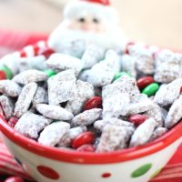 Reindeer Chow Muddy Buddies are the perfect holiday treat! This easy Christmas Chex Puppy Chow is a must make for your holiday gatherings! #puppychow #christmasrecipe
