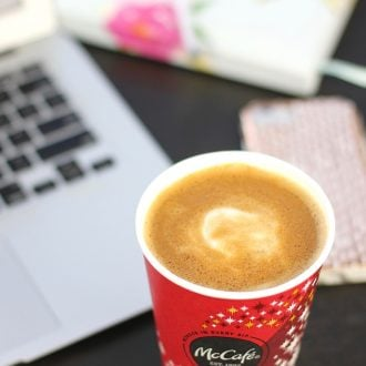 Why start your day with coffee? Come learn 3 good reasons and where you can get affordable and convenient espresso drinks like Caramel Macchiatos that are just delicious! #ad #coffee #McCafe