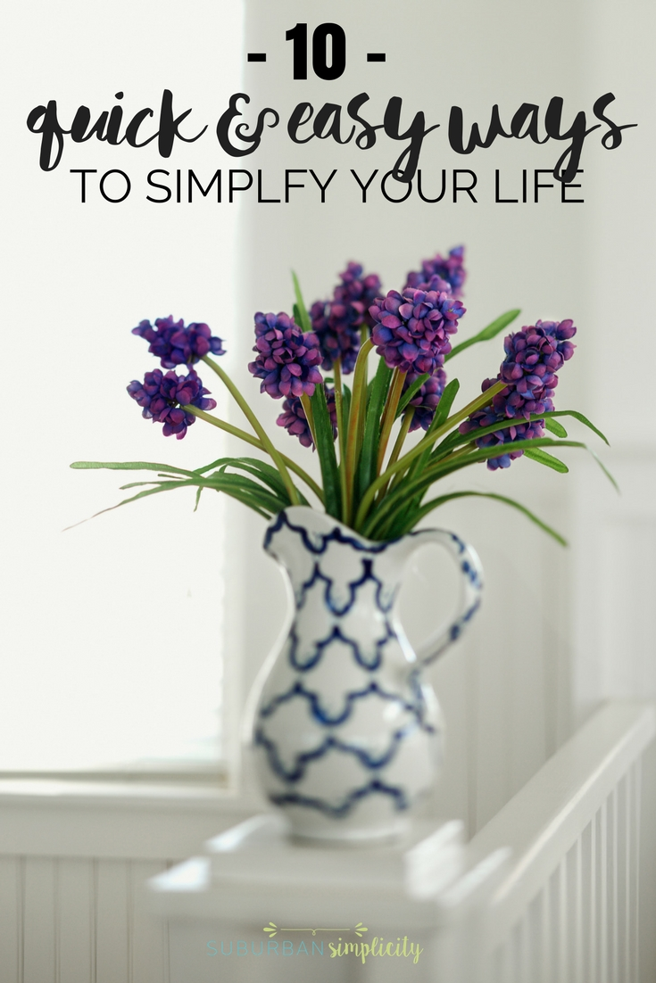 Flower on a table symbolizing easy ways to simplify your life.