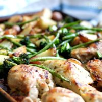 Roasted Chicken and Vegetable on one pan.