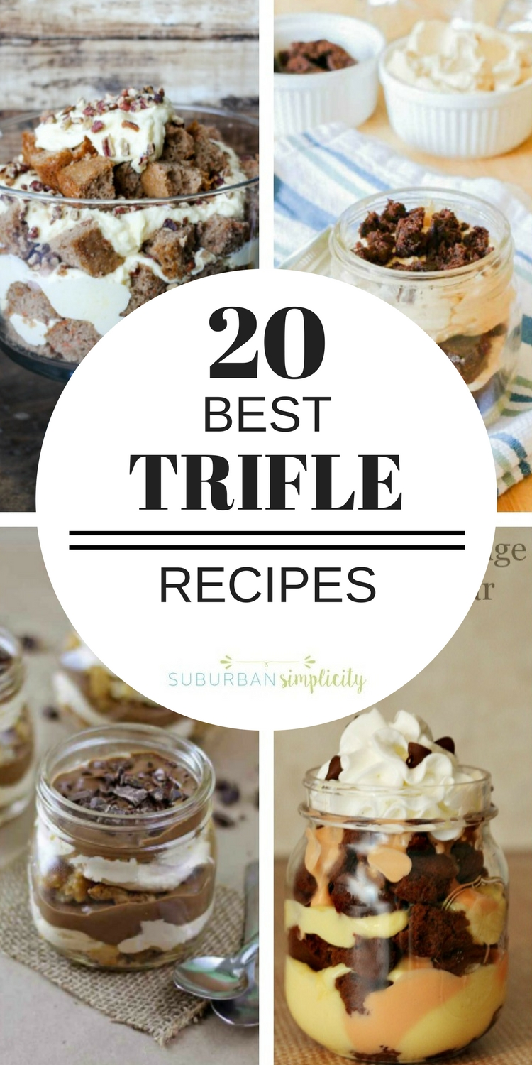 If you're looking for the Best Trifle Recipes, you've come to the right place!  Fruity, lemony, chocolatey, gluten-free or peanut butter, they're all here and waiting for you to dig into they're delicious layers! Great dessert ideas to feed a crowd!