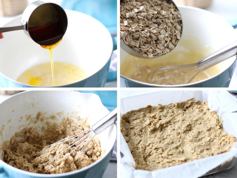 Step for making raspberry oatmeal bars