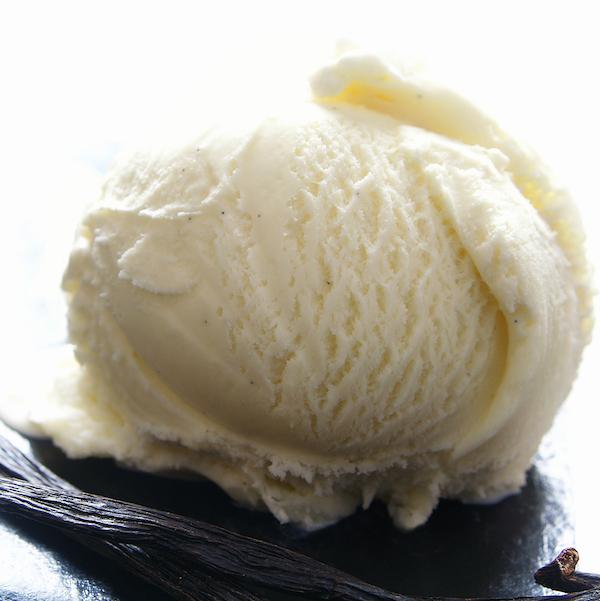 A close up of ice cream