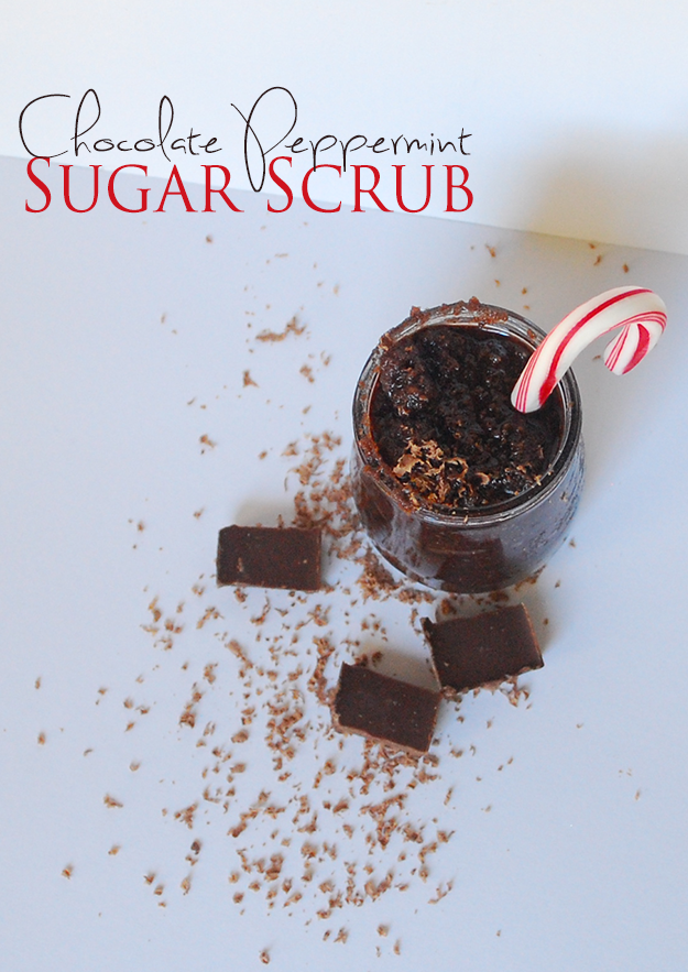 Chocolate Peppermint Sugar Scrub