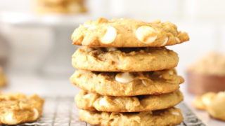 Pumpkin Spice Cookies with White Chocolate Chips
