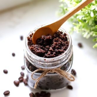 You need a Coffee Sugar Scrub in your life!  Treat yourself to a refreshing spa-like DIY that's wonderful for exfoliation and pampering! Makes a great gift, too!