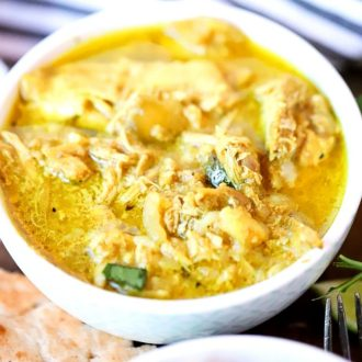 Come home to a flavorful and delicious Crock Pot Chicken Curry. Throw all your ingredients into your slow cooker and enjoy to a spice-filled sauce that pairs perfectly with rice!