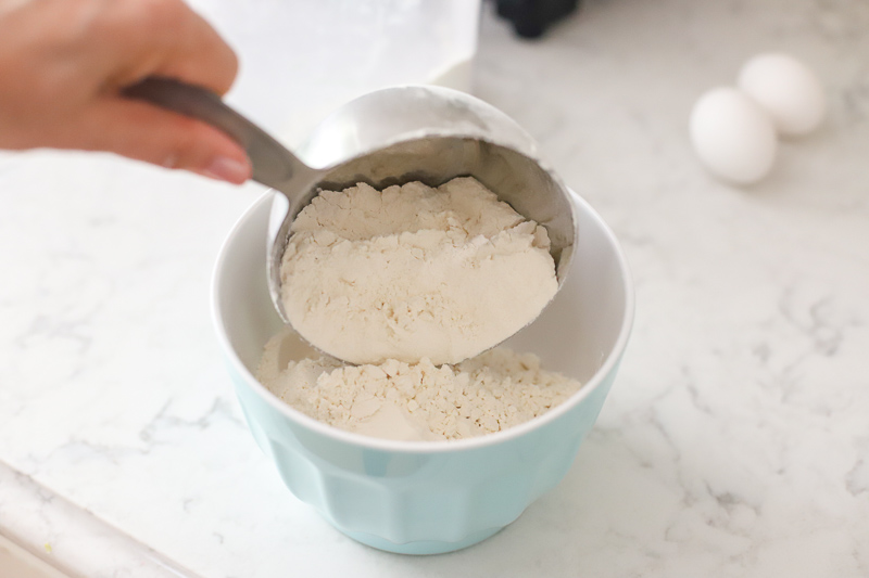 Flour for chocolate chip cookies.
