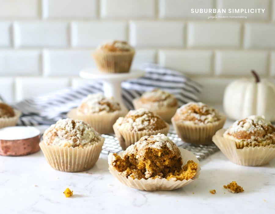 Pumpkin Spice Muffin in paper liner