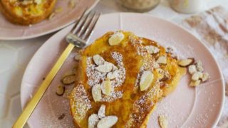Pumpkin and Almond Stuffed French Toast