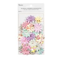 Floral Embellishments: 1.5 inches, 36 Pack